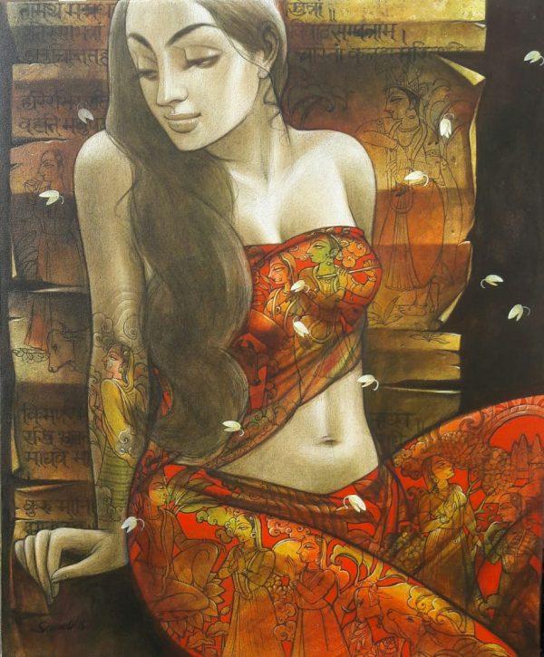 Radhika by Sukanta Das. This artwork illustrates a surreal and dream-like quality